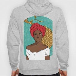 Black Latin American Woman Hoody
