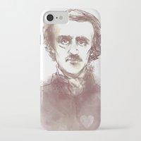 edgar allen poe iPhone & iPod Cases featuring Edgar Allen Poe by Andrew Brennan