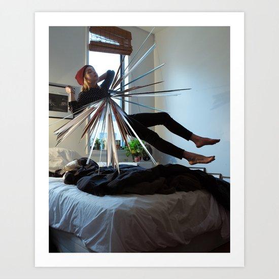 The fragmentation of the dream. Art Print