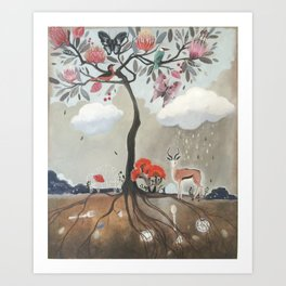 After Noon Tree Art Print