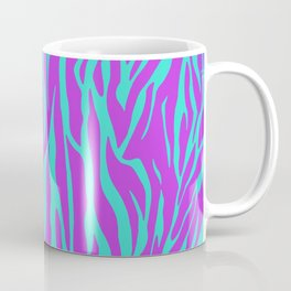 Purple and Green Zebra print Coffee Mug