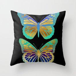 Pop Art Butterflies Throw Pillow