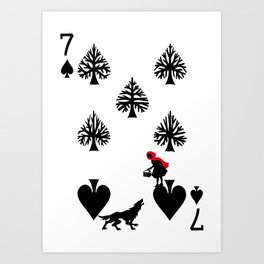 Curator Deck: The 7 of Spades Art Print