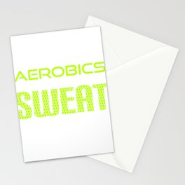Get into fitness with this Aerobic Tshirt Designs 99% Sweat Stationery Cards