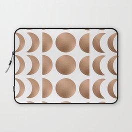 Rose Gold Moon Phase Pattern Laptop Sleeve