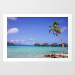 Tahiti Waters: Island View, Taha'a to Raiatea Art Print