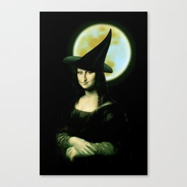 Mona Lisa Witchy Woman Canvas Print