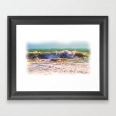 Ocean Power 2 as what else ~  A watercolor ! Framed Art Print