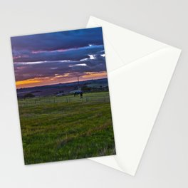 Sunset in the English countryside Stationery Cards