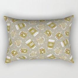 Cozy Green Mugs Rectangular Pillow