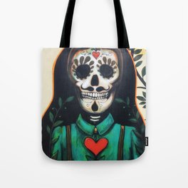 Love Always and Forever // Sugar Skull Day Dead Dia Muertos Creepy Cute Skeleton Tote Bag