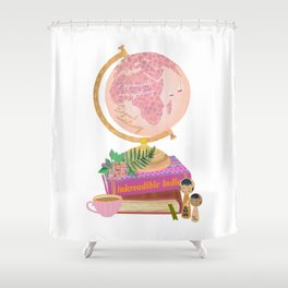 expect nothing Shower Curtain