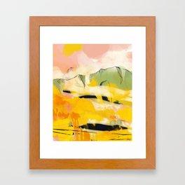 landscape abtract - paysage jaune Framed Art Print