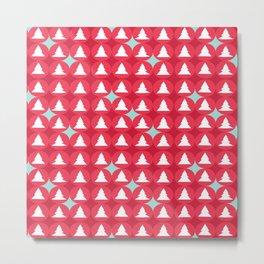 Christmas pattern red Metal Print