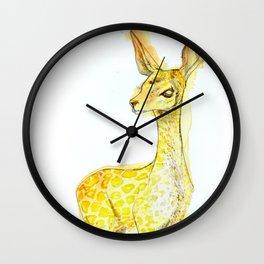 Gambade la biche carnivore Wall Clock