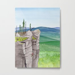 Explorer: The Heights Metal Print