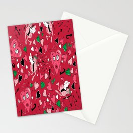 Cupid in Red Stationery Cards