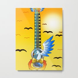 Keyblade Guitar #48 - Gullwing Metal Print