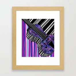 Study in the key of Purple - cello Framed Art Print