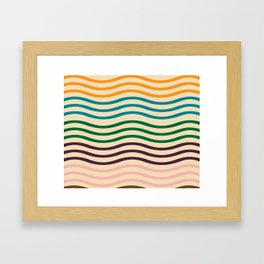 waves of fall Framed Art Print