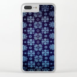 Floral Fabric Vintage Gift Pattern #5 Clear iPhone Case