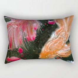 Splendens Splatter in Red and Orange Rectangular Pillow