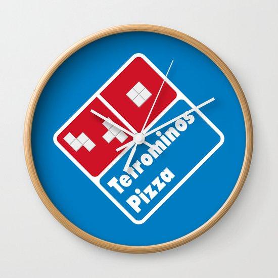 Tetrominos Pizza Wall Clock