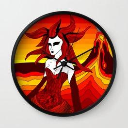 Elements - Fire Wall Clock