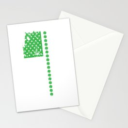 St. Patrick's Day Irish American Flag Stationery Cards