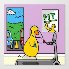 Fitness Duck Canvas Print