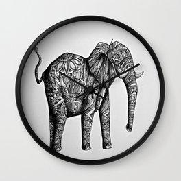 Tribal Elephant Wall Clock