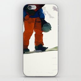 Ready to Ride! - Snowboarder iPhone Skin