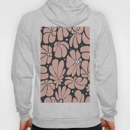 Seamless floral pattern with stylized large blossoms Hoody