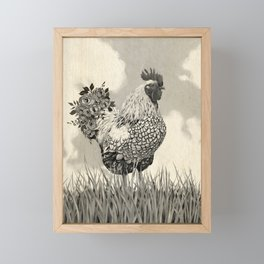 Barnyard Strut Framed Mini Art Print