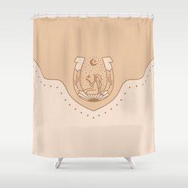 Good Fortune Gal - Neutrals  Shower Curtain
