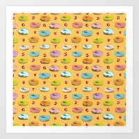donuts Art Prints featuring Donuts by Evan Smith
