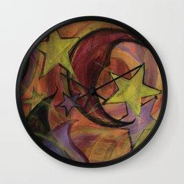 Night Sky in Autumn Wall Clock