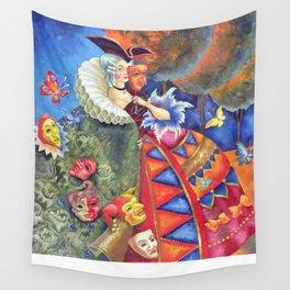Masks  Wall Tapestry
