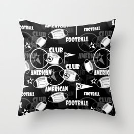 American football 2 Throw Pillow