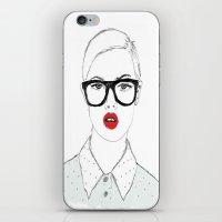 nerd iPhone & iPod Skins featuring Nerd by Panxy_Art