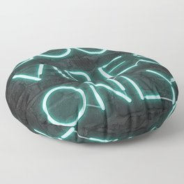 Neon Good Vibes - Teal Floor Pillow