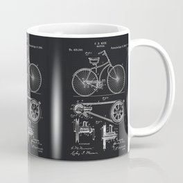 Vintage Bicycle patent illustration 1890 Coffee Mug