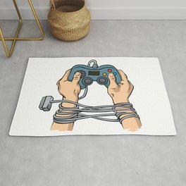 Hands tied by wire Rug