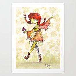 Hippy Longstockings Art Print