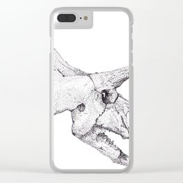 Skull of a Dinosaur Clear iPhone Case