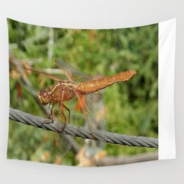 Female Red Skimmer Dragonfly Wall Tapestry