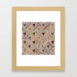 Bullmastiff Dog Word Art pattern Framed Art Print