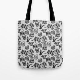 Black and White Pups Tote Bag
