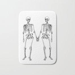Two skeletons Bath Mat