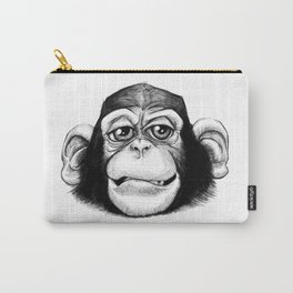 Cheeky baby chimp black and white. Carry-All Pouch